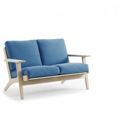 Plank two seat sofa