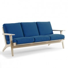 Plank three seat sofa